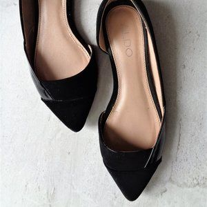 💗 3/$25 Aldo black flat shoes